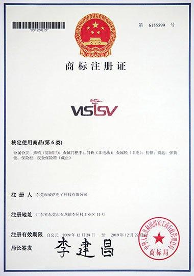 商标VISISV第6类